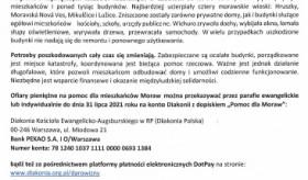 APEL o składanie ofiar na rzecz osób poszkodowanych w wyniku nawałnic na Morawach
